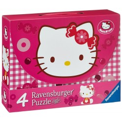 Puzzle Dulce Hello Kitty - 25+25+36+36 progresivo Ravensburger 07 263 7