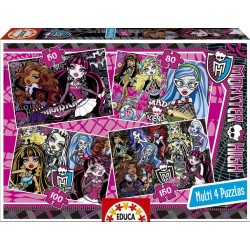 Puzzle Monster High - 50+80+100+150 progresivo Educa 15632