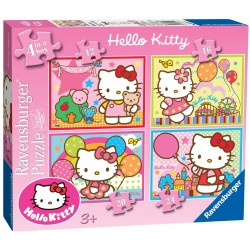 Puzzle Hello Kitty - 12+16+20+24 progresivo Ravensburger 07 256 9