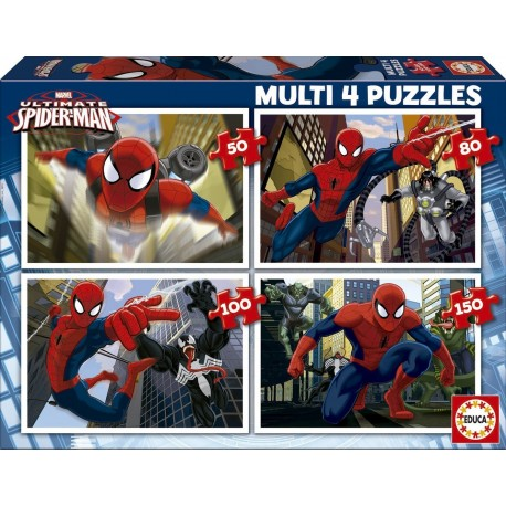 Puzzle Ultimate Spider-man - 50+80+100+150 progresivo Educa 15642
