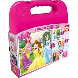 Puzzle Princesas Disney - 12+16+20+25 progresivo Educa 16508