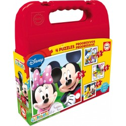 Puzzle Maleta Mickey Mouse Disney - 12+16+20+25 progresivo Educa 16505