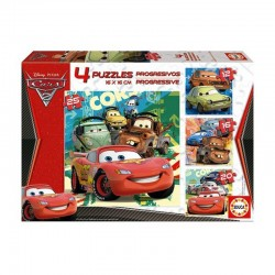 Puzzle Cars Disney - 12+16+20+25 progresivo Educa 14942
