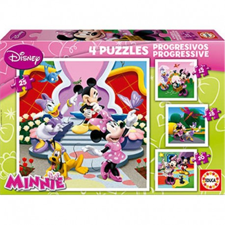 Puzzle Minnie Disney - 12+16+20+25 progresivo Educa 15134