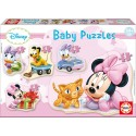 Puzzle Minnie Baby - 3+4+5 progresivo Educa 15612