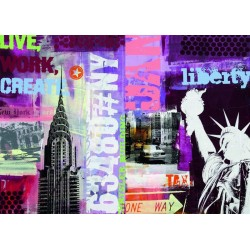 New York Collage de  1000 piezas  Ravensburger 19613