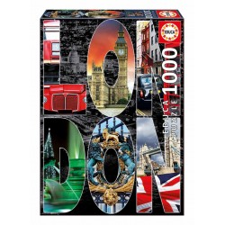 Puzzle Collage de Londres - 1000 piezas Educa 16786