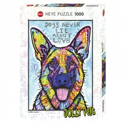 Puzzle Heye- Dog Never Lie 1000 piezas