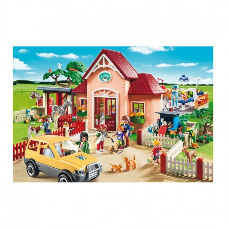 Schmidt - Playmobil- Hospital Veterinario. 100 piezas