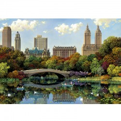 Puzzle Central Park Bow Bridge, Alexander Chen  - 8000 piezas Educa 17136