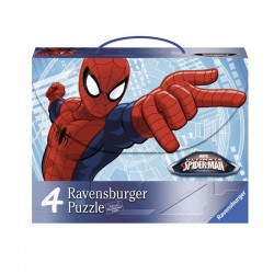 Puzzle Spider-man Ultimate - maleta 2x64 + 2x81 progresivo Ravensburger 07262