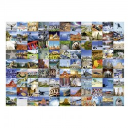 Puzzle Collage 99 Beautiful Places USA/Canada - 1000 piezas Ravensburger 19709