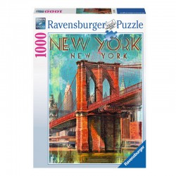 Puzzle Retro New York - 1000 piezas Ravensburger 19835