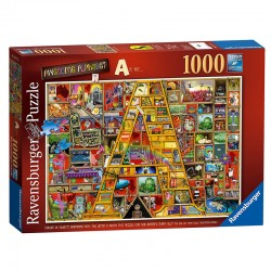 "Puzzle Awesome Alphabet ""A""  - 1000 piezas Ravensburger 19771"