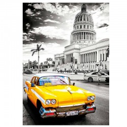 Puzzle Taxi en La Habana, Cuba Coloured Black And White - 1000 piezas Educa 17690
