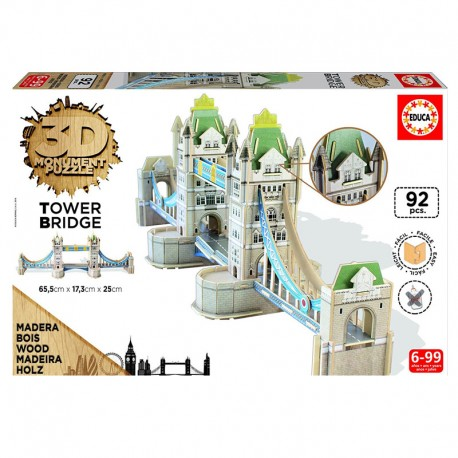 3D Monument Puzzle Tower Bridge - 92 piezas Educa 16999
