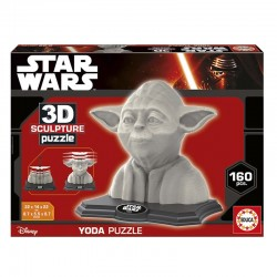 Puzzle 3D Star Wars Color Sculpture Yoda  - 160 piezas Educa 17801