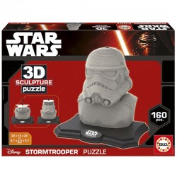Puzzle 3D Star Wars Color Sculpture Stormtrooper  - 160 piezas Educa 17803