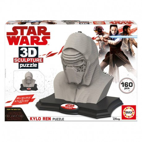 Puzzle 3D Star Wars Color Sculpture Kylo Ren - 160 piezas Educa 17802