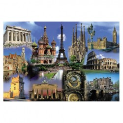 Puzzle Collage De Europa - 2000 piezas Educa 14122