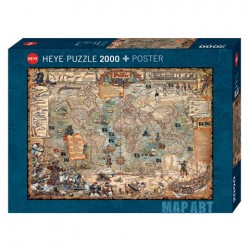 Puzzle Pirate World - 2000 piezas Heye 29847