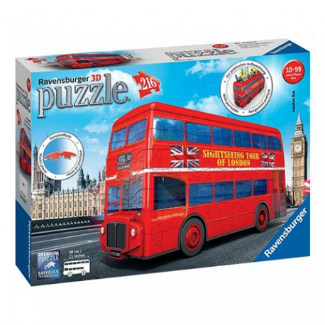 Puzzle London Bus 3D - 216 piezas Ravensburger 12534