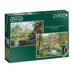Puzzle Falcon - Romantic Countryside Cottages 2x500 piezas - Jumbo 11261