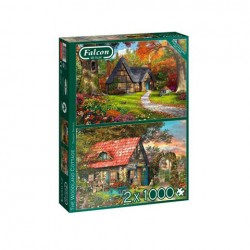 Puzzle Falcon - The Woodland Cottage 2x1000 piezas - Jumbo 11294