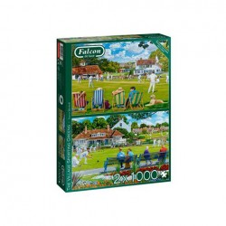 Puzzle Falcon - The Village Sporting Greens 2x1000 piezas - Jumbo 11309