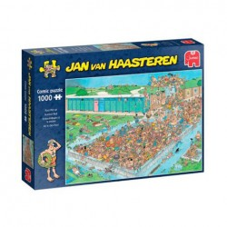 Puzzle Jan van Haasteren - Pool Pile-Up - 1000 piezas Jumbo 20039