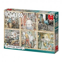 Puzzle Premium Collection - Anton Pieck, Craftmanship - 1000 piezas Jumbo 18817