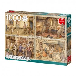 Puzzle Premium Collection - Anton Pieck, Bakers from the 19th Century - 1000 piezas Jumbo 18818