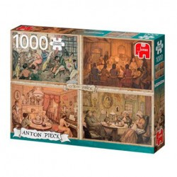 Puzzle Premium Collection - Anton Pieck, Living Room Entertainment - 1000 piezas Jumbo 18856