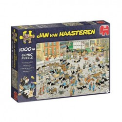 Puzzle Jan van Haasteren - The Cattle Market - 1000 piezas Jumbo 19075