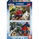 Puzzle Ultimate Spider-Man - 2x100 piezas Educa 15640