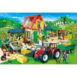 Puzzle Playmobil Granja coloreada - 60 piezas Schmidt 55458