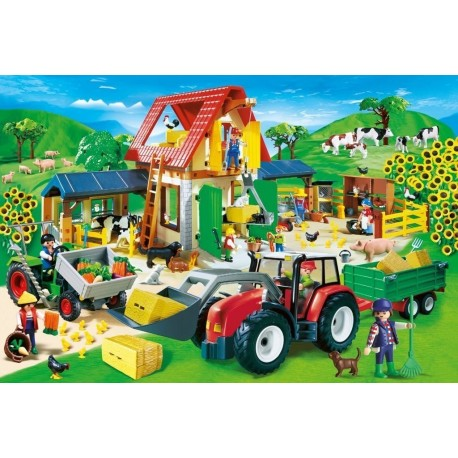 Puzzle Playmobil Granja coloreada-  60 piezas Schmidt 55458