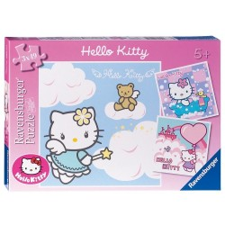 Puzzle Adorable Hello Kitty - 3x49 piezas Ravensburger 09 271 0